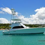 The post is one of the finest yachts docked in Sosua Beach