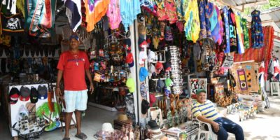 Alfonso`s gift shop entrance in Sosua Beach