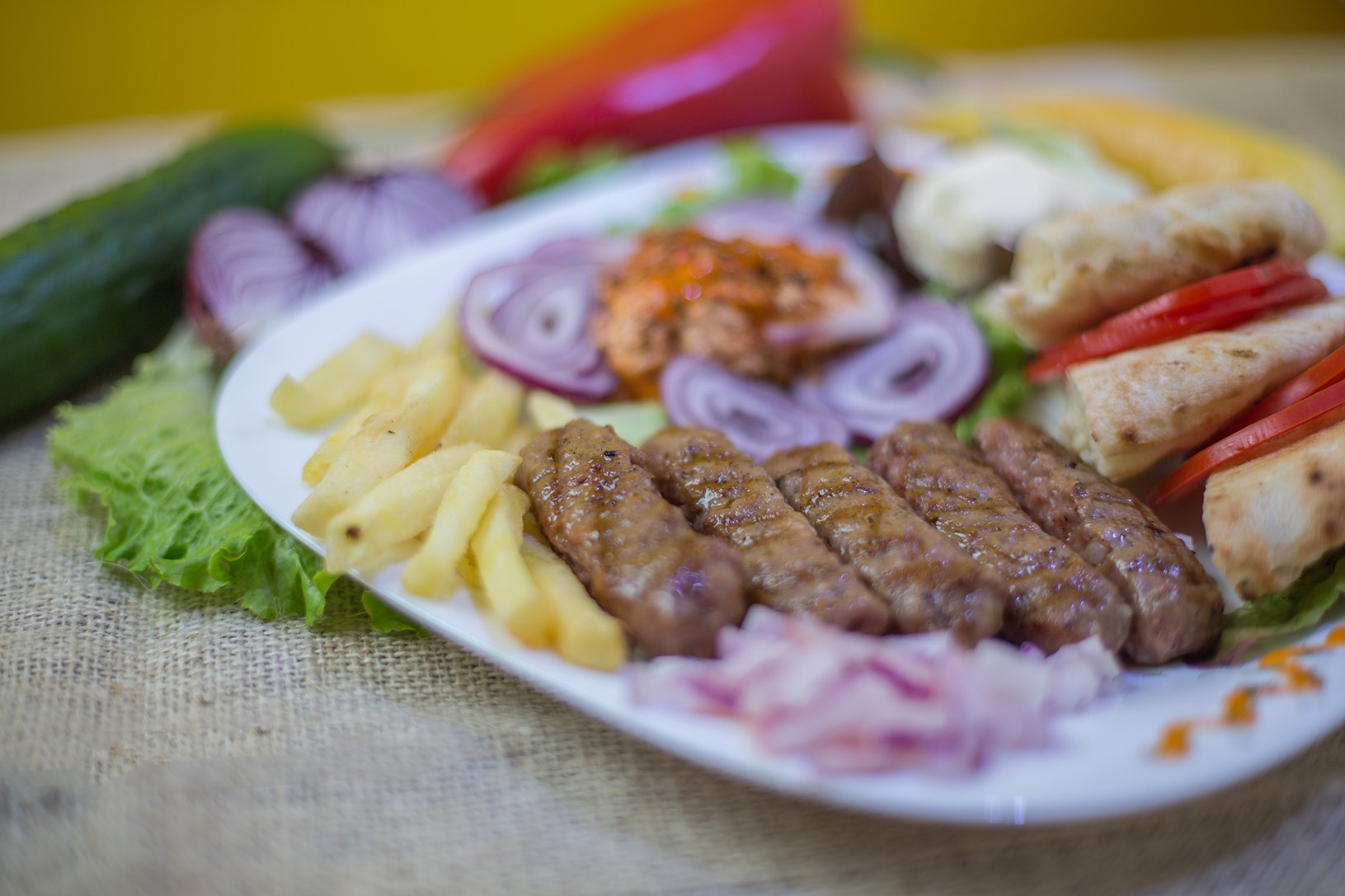 Cevapi at Rakija Sosua Restaurant
