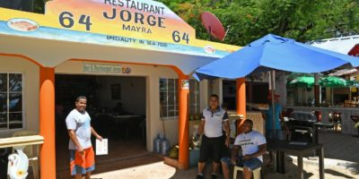 Facade of Jorge`s restaurant in Sosua beach