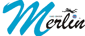 Merlin dive center logo