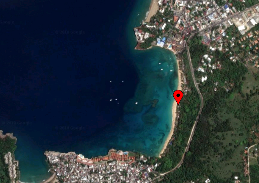 location map of mofongo king sosua beach