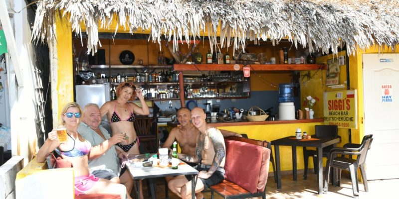 Siggi beach bar and restaurant in Sosua beach