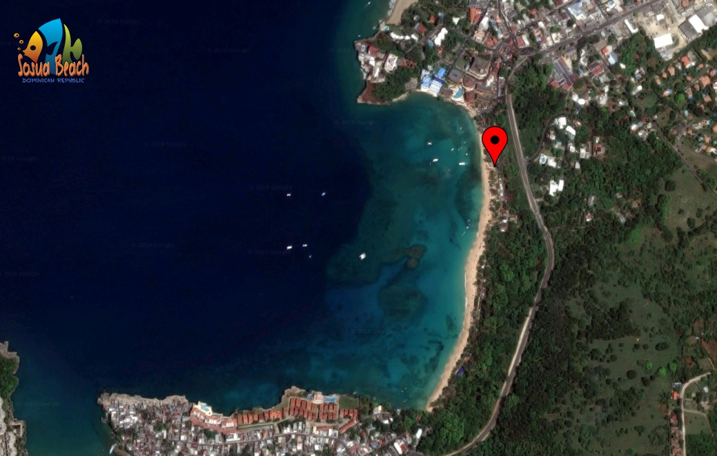location of Siggi`s bar in Sosua Beach