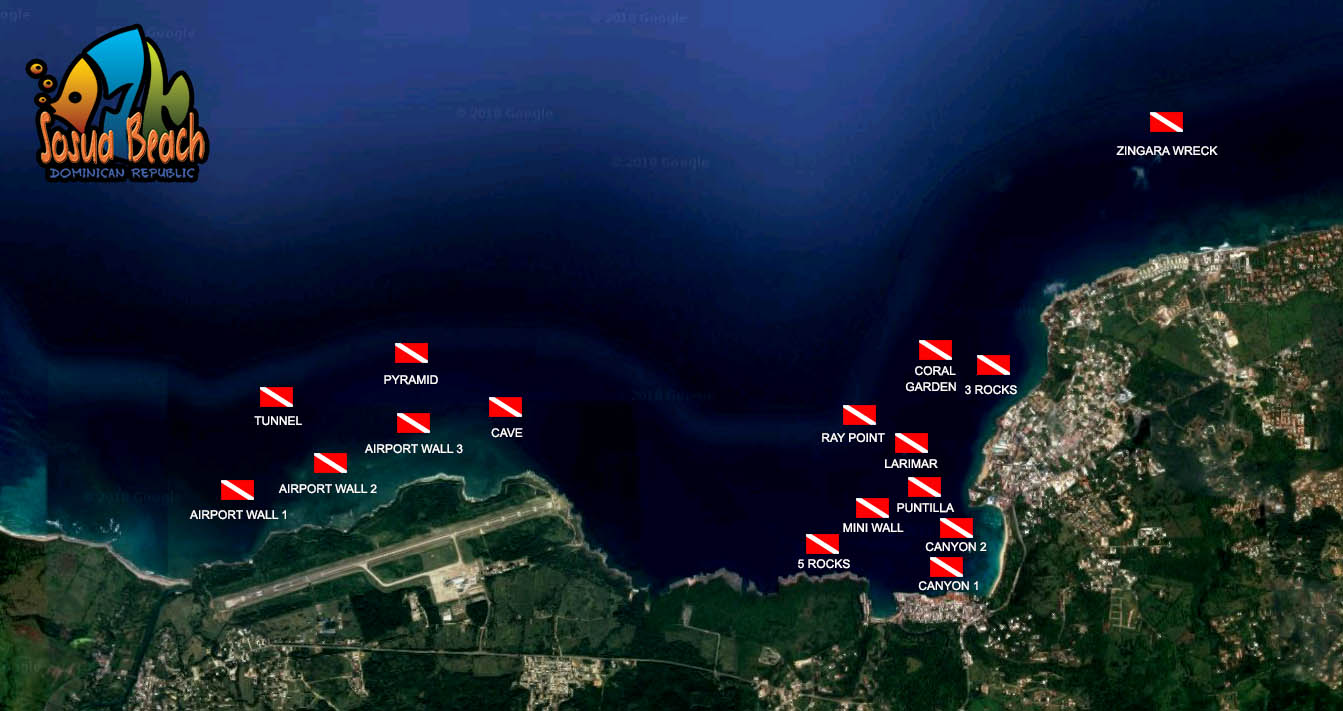 Sosua diving sites map