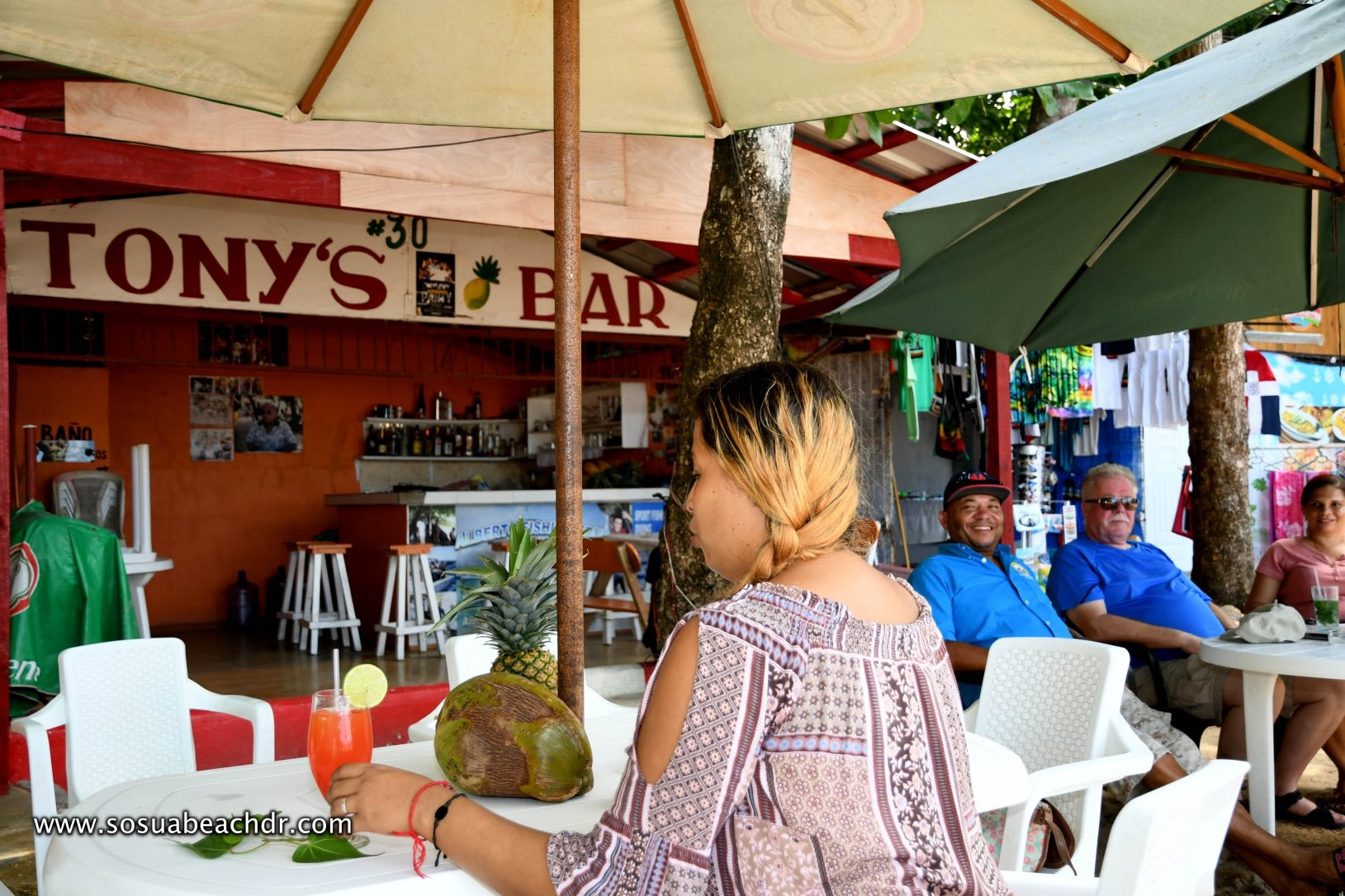 At Tony`s bar in Sosua Beach