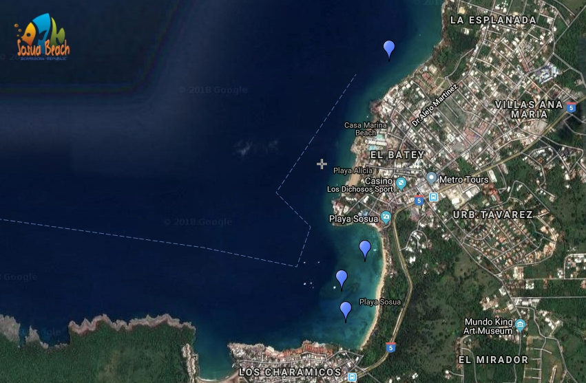sosua snorkel map