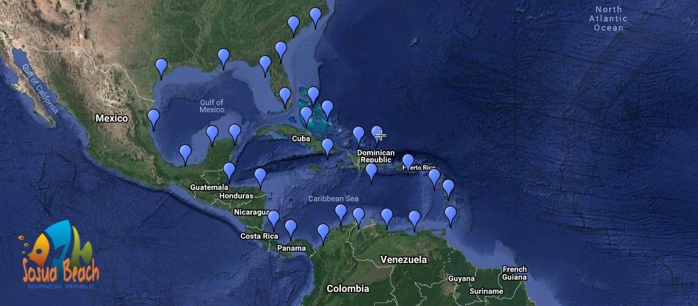 Spotfin butterflyfish range map