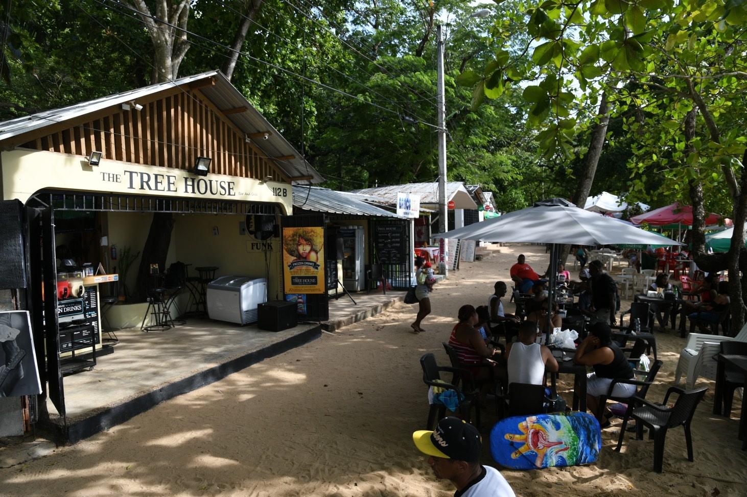 The tree house bar in Sosua