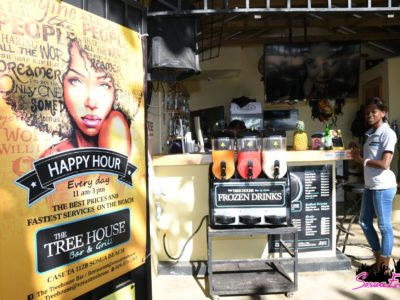The bar at the Tree House in Sosua Beach