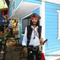 Captain Jack Sparrow impersonator in Sosua beach