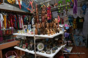 Various gift shop articles for sale at Fatima`s