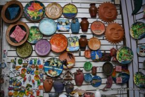 Decorative plates for sale in the gift shop